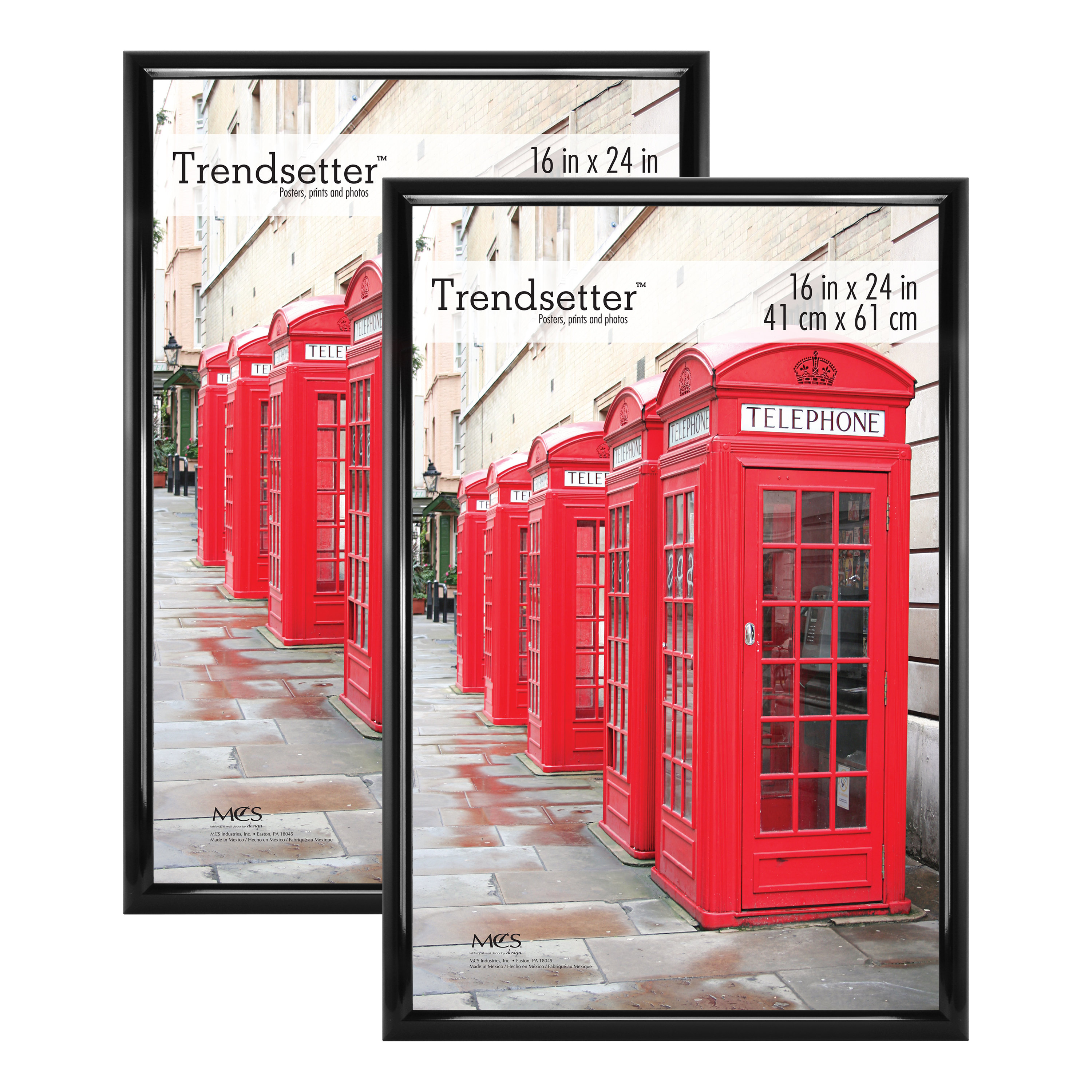 """Set Of 4 16x24/"""" Trendsetter Poster and Picture Frame Home Wall Art Decor Black"""