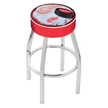 Detroit Red Wings 30 Inch L8C1 Cushion Seat With Chrome Base Bar Stool