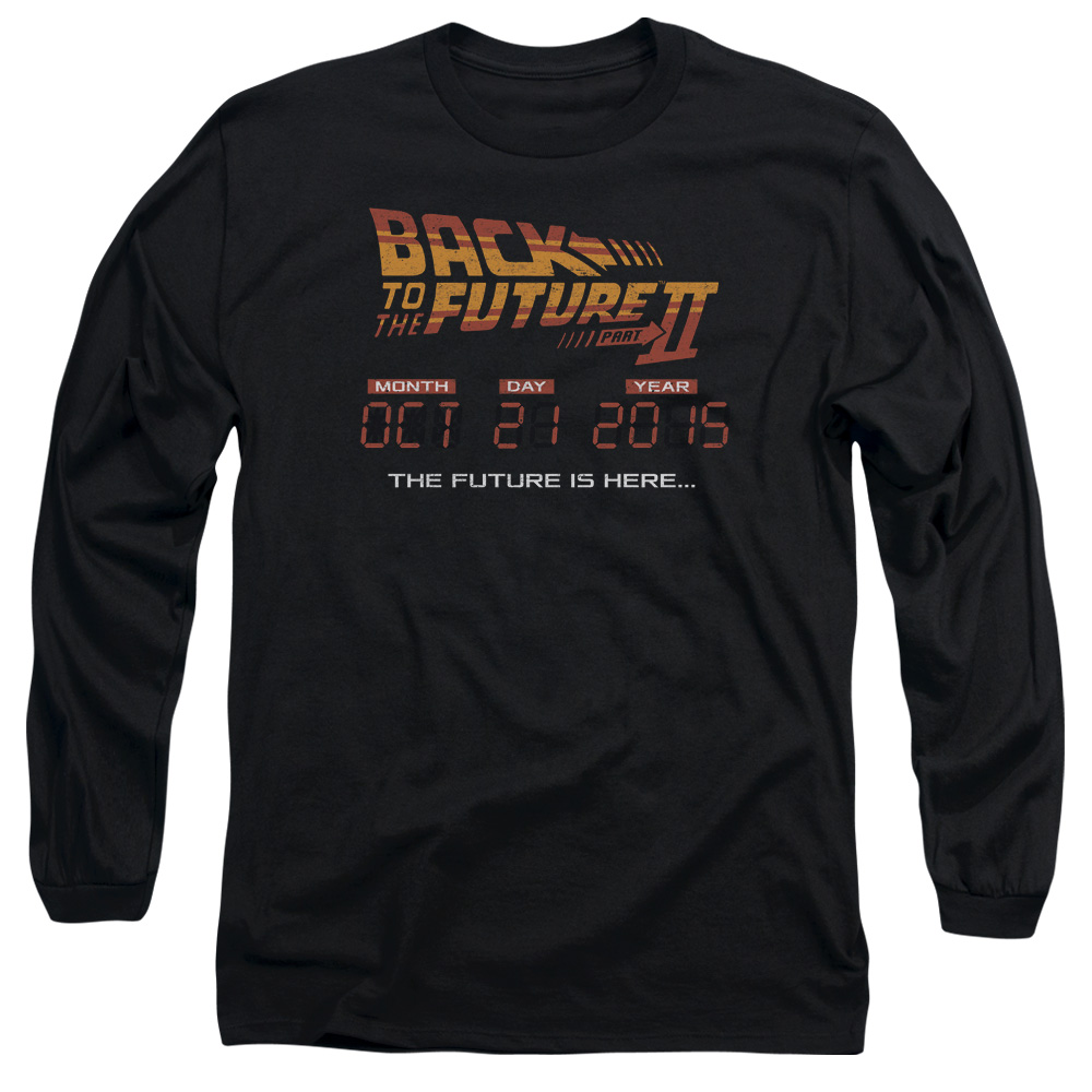 Back To The Future II Future Is Here Mens Long Sleeve Shirt