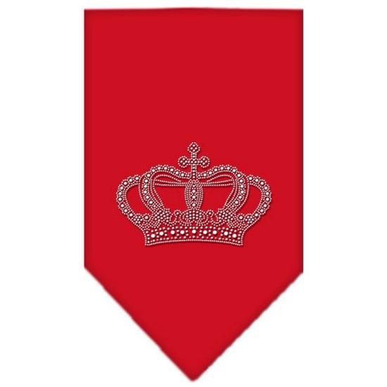 Crown Rhinestone Bandana Red Large