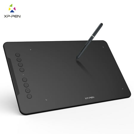 XP-PEN Deco01 Drawing Pen Tablet Digital Graphics Drawing Tablet with Battery-free Stylus and 8 Shortcut Keys 8192 Levels Pressure 10x6.25
