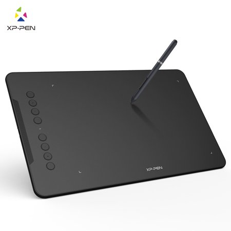 XP-PEN Deco01 Drawing Pen Tablet Digital Graphics Drawing Tablet with  Battery-free Stylus and 8 Shortcut Keys 8192 Levels Pressure 10x6 25 Inch