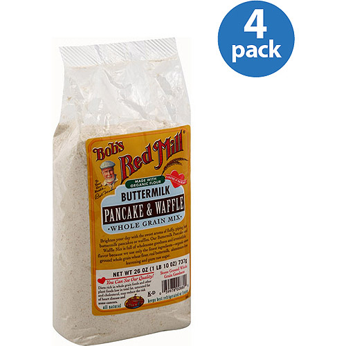 Bob's Red Mill Buttermilk Pancake & Waffle Whole Grain Mix, 26 oz, (Pack of 4)