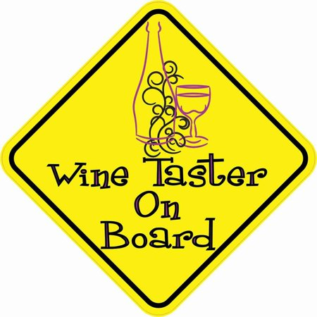 - StickerTalk® Brand 5in x 5in Wine Taster On Board Magnet Vinyl Magnetic Hobby Bumper