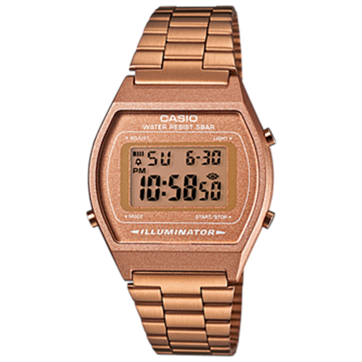 Casio Women's Core B640WC-5A Rose Gold Stainless-Steel Quartz Fashion Watch
