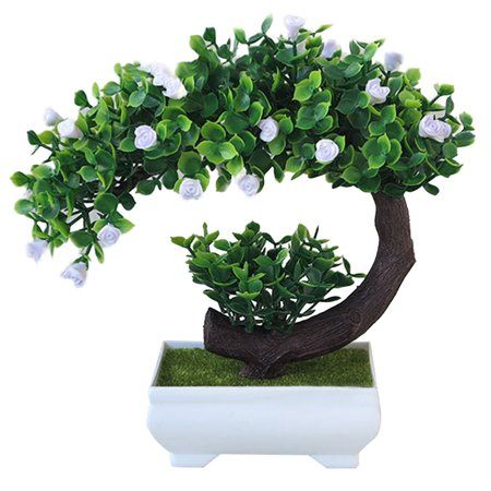 Pink Bonsai - KABOER Artificial Bonsai Tree  Pot  Plant Home Office Decoration