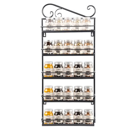 Wall Mounted Spice Rack Organizer For Cabinet Pantry Door