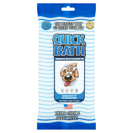 Pet Wipes Soothing Bath (Quick Bath Large Dog Wipes, 5 pack )
