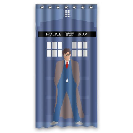 DEYOU Doctor Who Shower Curtain Polyester Fabric Bathroom Size 36x72 Inches