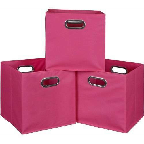 Niche Cubo Set of 3 Foldable Fabric Storage Bins, Set of 3, Multiple Colors