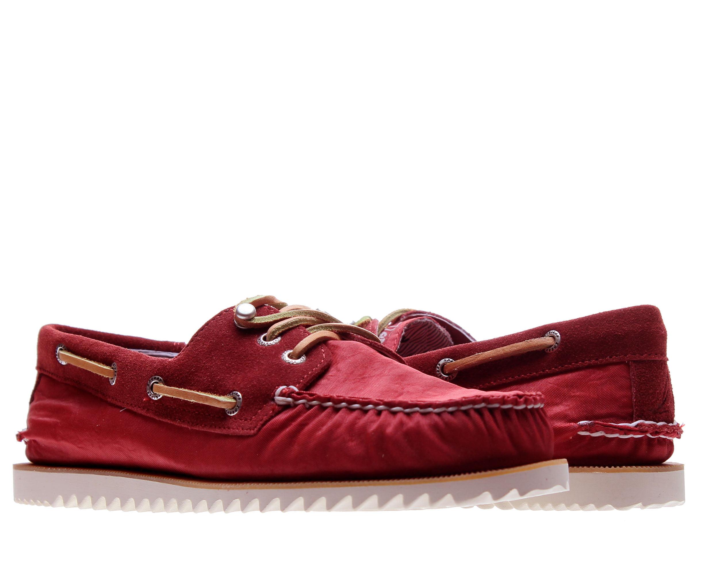 Sperry Top Sider Cloud Logo Razorfish Dark Red Nylon Men's Boat Shoes 1297654 by