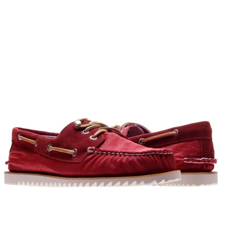 Sperry Top Sider Cloud Logo Razorfish Dark Red Nylon Men's Boat Shoes 1297654