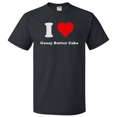 I Love Gooey Butter Cake T shirt I Heart Gooey Butter Cake (Best Gooey Butter Cake St Louis)