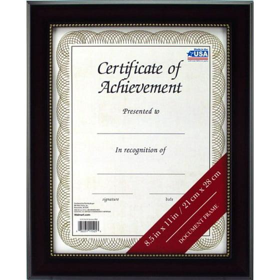 8.5x11 Mahogany Document Frame - Walmart.com