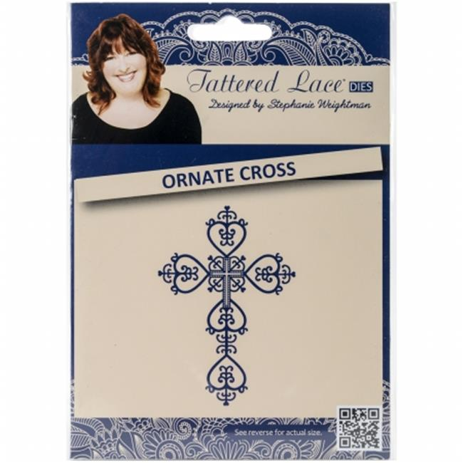 Create and Craft 137815 Tattered Lace Metal Die - Ornate Cross