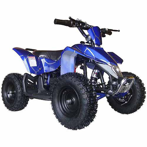 MotoTec 24V Mini Quad V3 Battery-Powered Ride-On, Blue