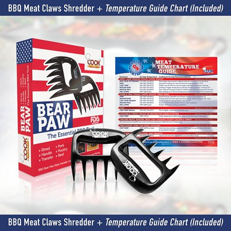 Best BBQ Meat Claws Shredder Bear Claw Tool Carving Fork Meat Handing Claw - 1Pack, SAVE LOTS of TIME and Effort PULLING AND SHREDDING your favorite grilled meats..., By Art and