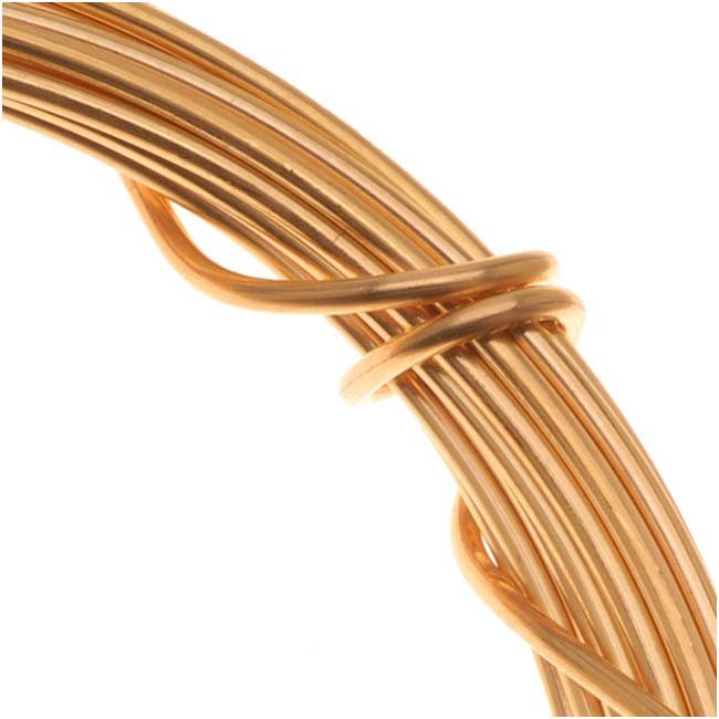 Gold Plated Copper German Bead Wire Craft Wire 18 Gauge/1mm (4 Meters / 13.1 Feet)