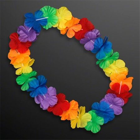 Hawaiian Flower Lei Necklace Rainbow