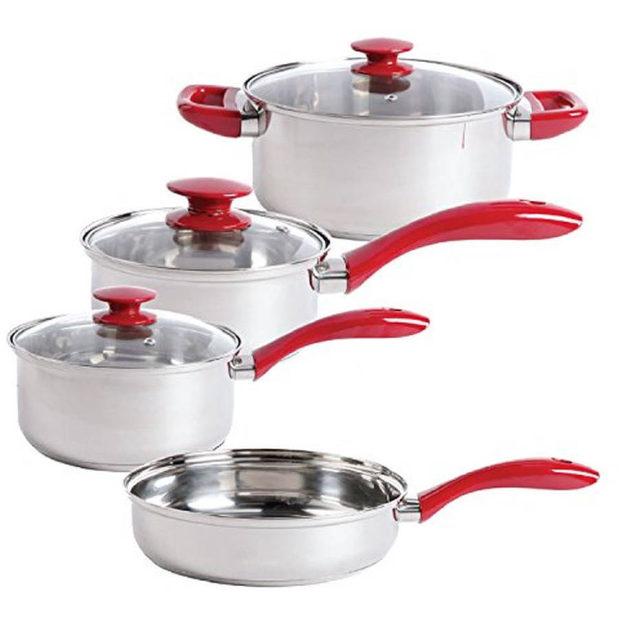 Sunbeam Crawford 7-Piece Stainless Steel Cookware Set