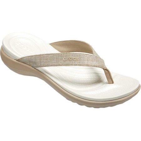 352900f0958 Crocs - Women s Crocs Capri V Shimmer Flip Flop Sandal - Walmart.com