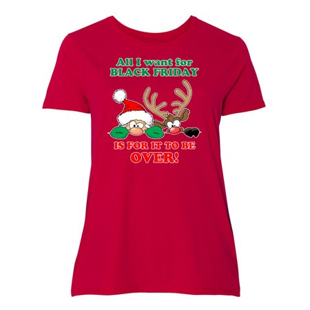 All I want for Black Friday is for it to be OVER!HIding Santa Women's Plus Size T-Shirt