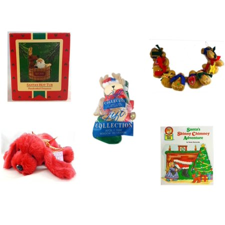 Christmas Fun Gift Bundle [5 Piece] - Hallmark  Tree Ornament Santa