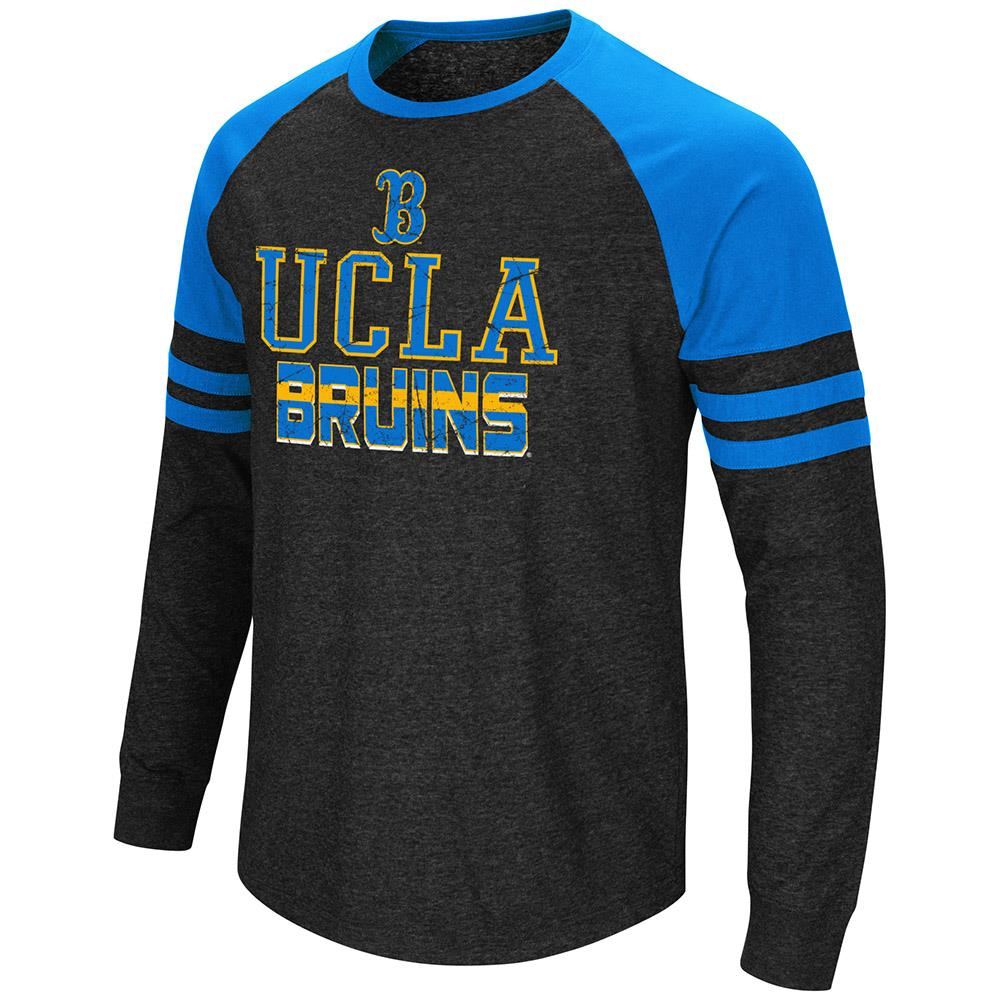 Mens NCAA UCLA Bruins Hybrid Long Sleeve Raglan Tee Shirt