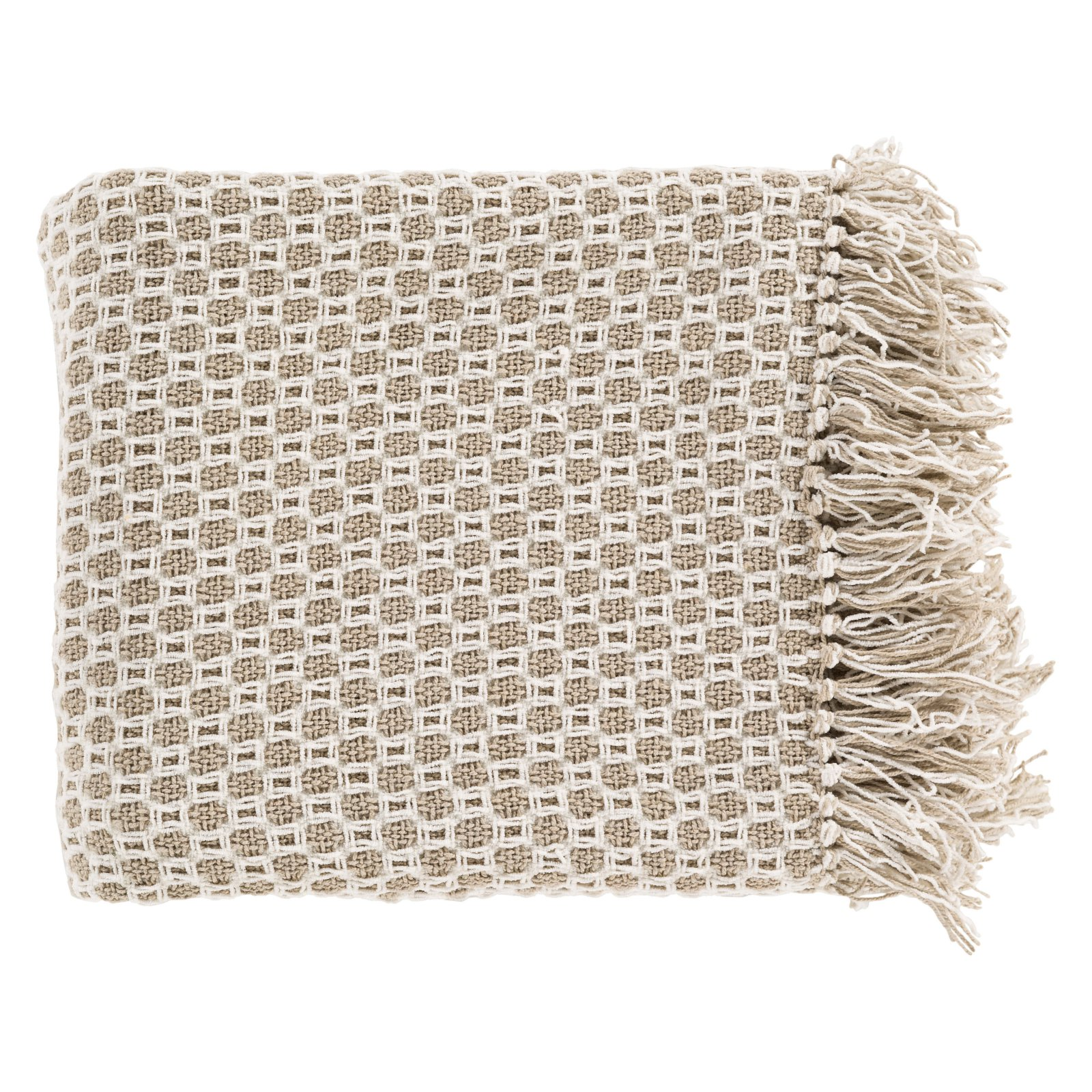 Surya Trestle Cotton Throw Blanket