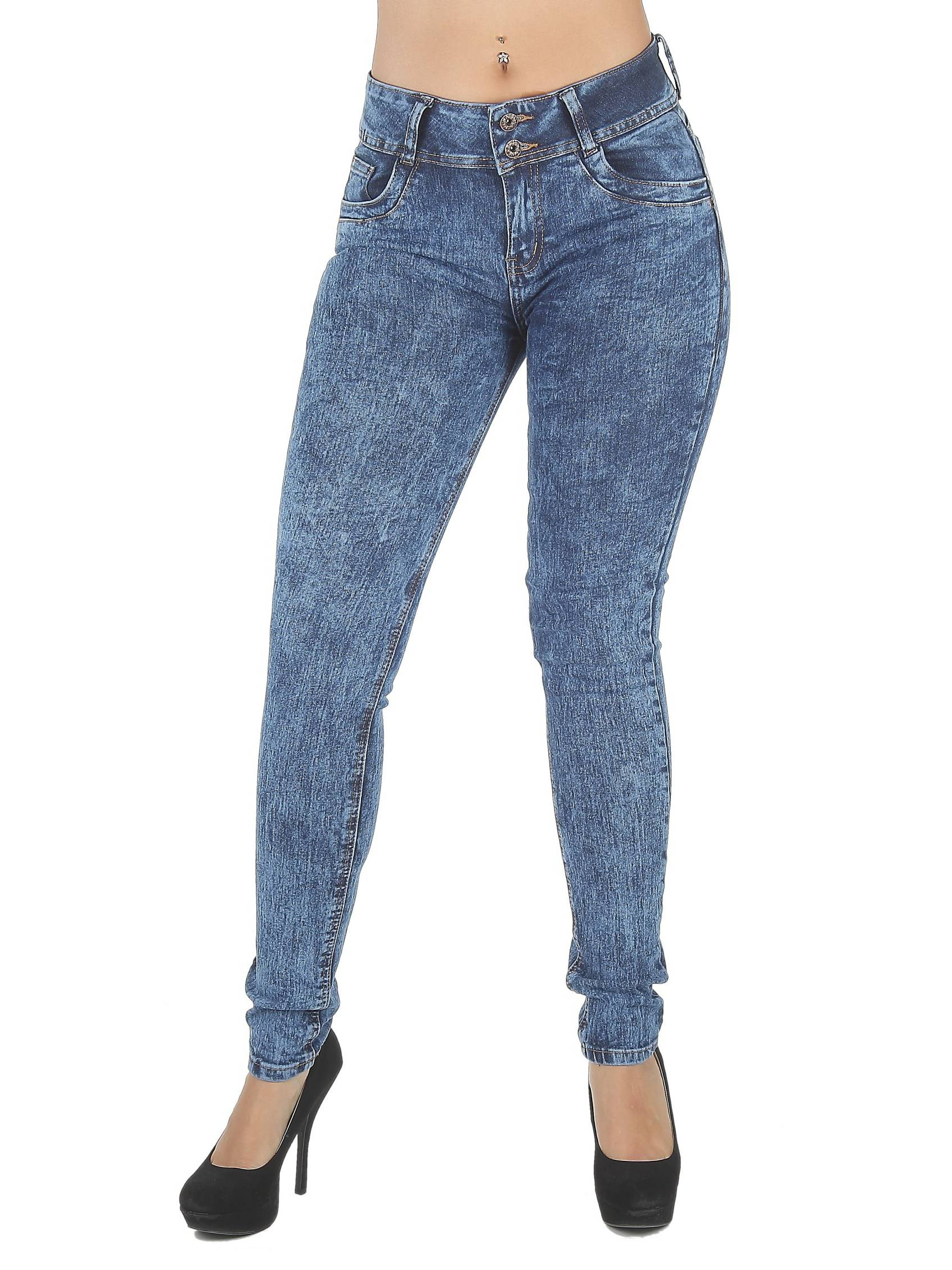 FWG0267 - Colombian Design, Butt Lift, Levanta Cola, Mid Waist Sexy Skinny Jeans