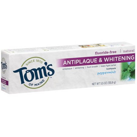 tom 39 s of maine antiplaque whitening peppermint toothpaste 5 5 oz. Black Bedroom Furniture Sets. Home Design Ideas