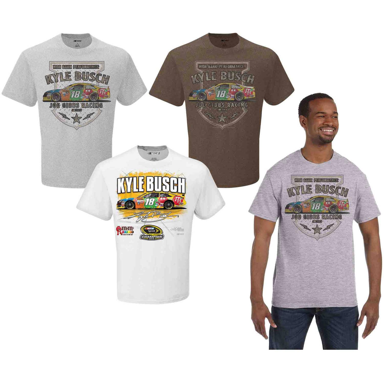 NASCAR Big Men's Kyle Busch 3 Pack Tee Shirts, 2XL
