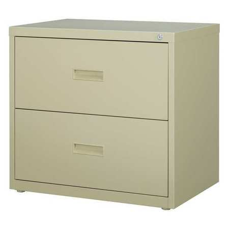 HL1000 Series 30 Inch Wide 2 Drawer Lateral File Cabinet, Putty