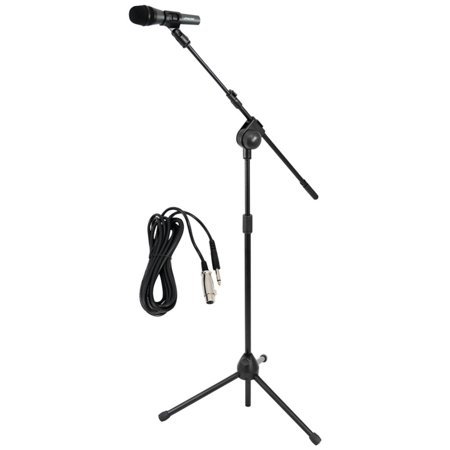 Pyle Pro Microphone & Tripod Stand With Extending Boom & Microphone Cable Package PYLPMKSM20 (Boom Stand Package)