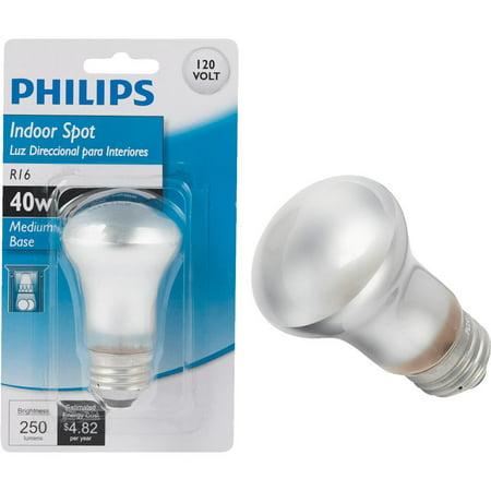 40w R16 Reflector (Philips Lighting Co 40w R16 Medium Spt Bulb)