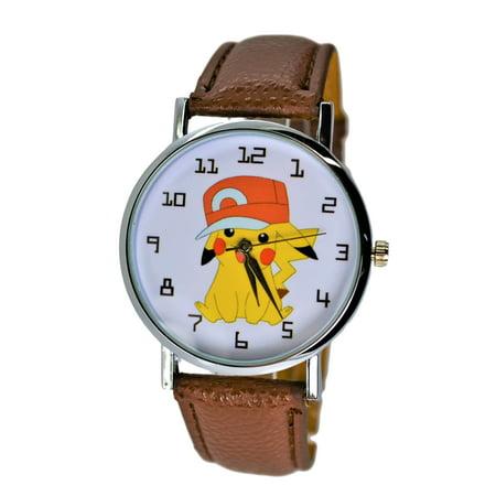 Pokemon Pikachu Quartz Analog Wrist Watch For Men Women Boys Girls.Fashion Large Modern Display.
