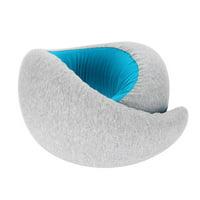 Tebru Memory Foam Travel Pillow, Soft Memory Foam Travel Pillow with Bag Head Neck Chin Supporting Pillow for Adult Kids, Chin Supporting Pillow
