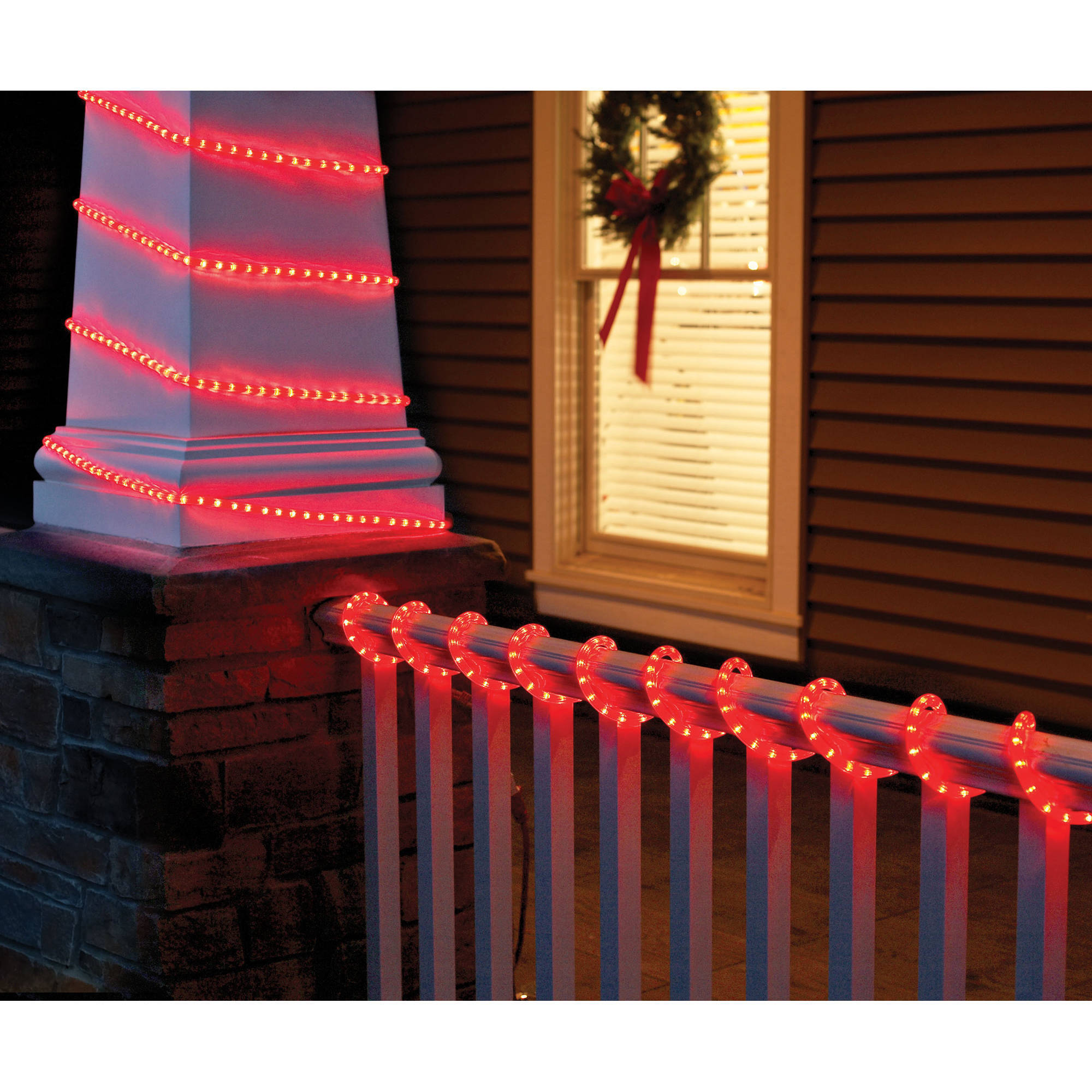 Holiday Time Christmas Lights 18' Crystalized Rope Light, Red