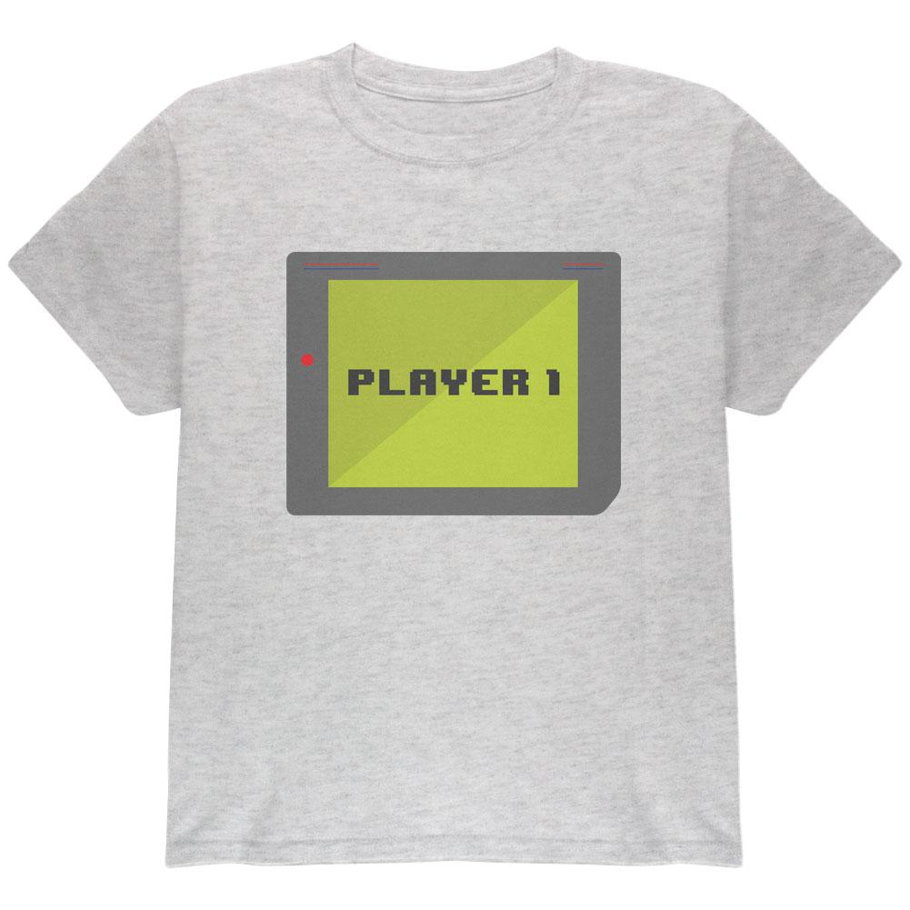 Halloween Old School Gamer Player 1 Youth T Shirt
