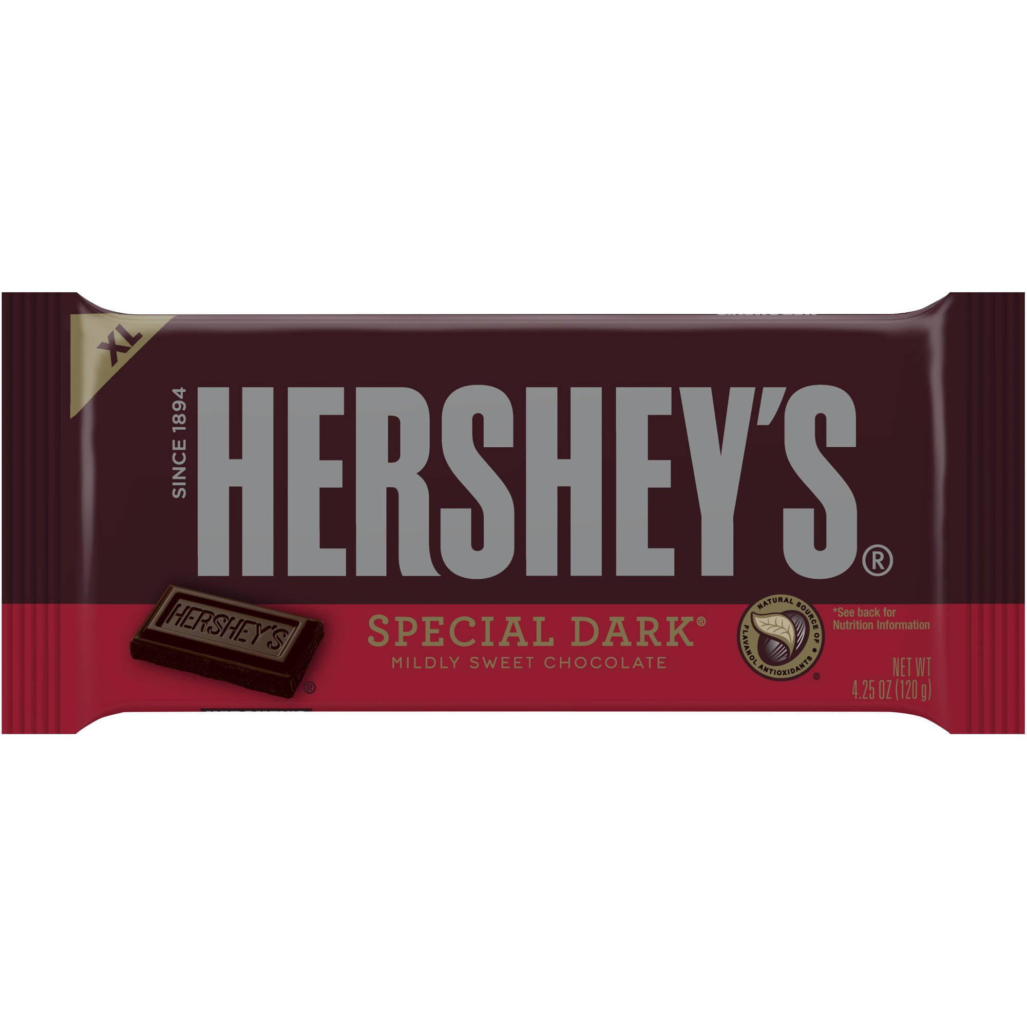 Hershey's Special Dark XL Mildly Sweet Chocolate Bar, 4.25 oz