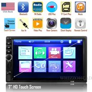 Bluetooth Touch Screen Car Stereo Multimedia Receiver Audio Receiver 2 Din 7
