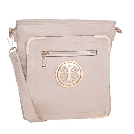 MKF Collection Beige Courier Fun to Wear Bagby Mia K. Farrow
