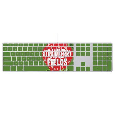 - Skin For Apple Keyboard with Numeric Keypad MB110LL/B – Strawberry Fields Forever | MightySkins Protective, Durable, and Unique Vinyl Decal wrap cover | Easy To Apply, Remove | Made in the USA