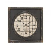 A Nation 20287 Metal Wood Wall Clock, 39 x 39 in.