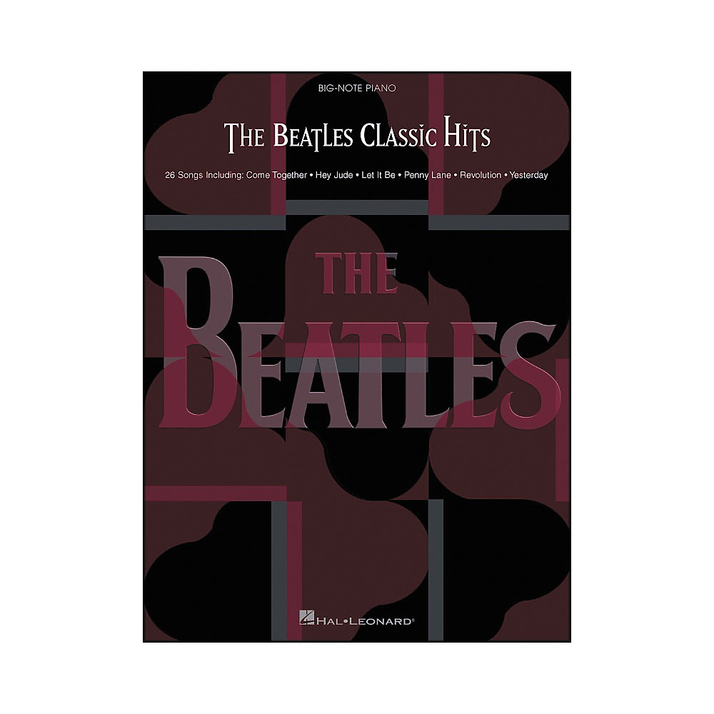 Hal Leonard The Beatles Classic Hits for Big Note Piano