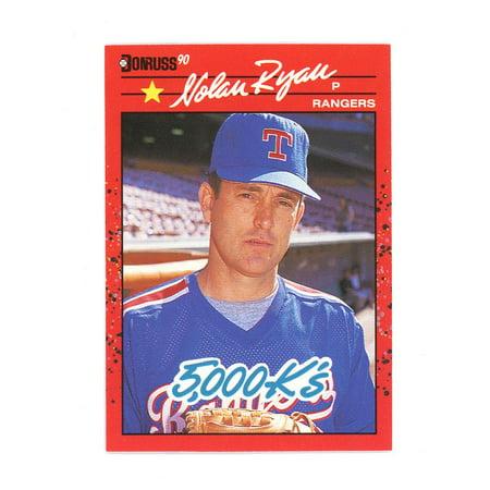Nolan Ryan Texas Rangers Card (1990 Donruss #659 Nolan Ryan 5000 Strikeouts Texas Rangers Card )
