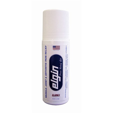Elgin Pain Relief Gel Topical Analgesic Arthritis Backache Strains Relief 3oz Roll On Stick