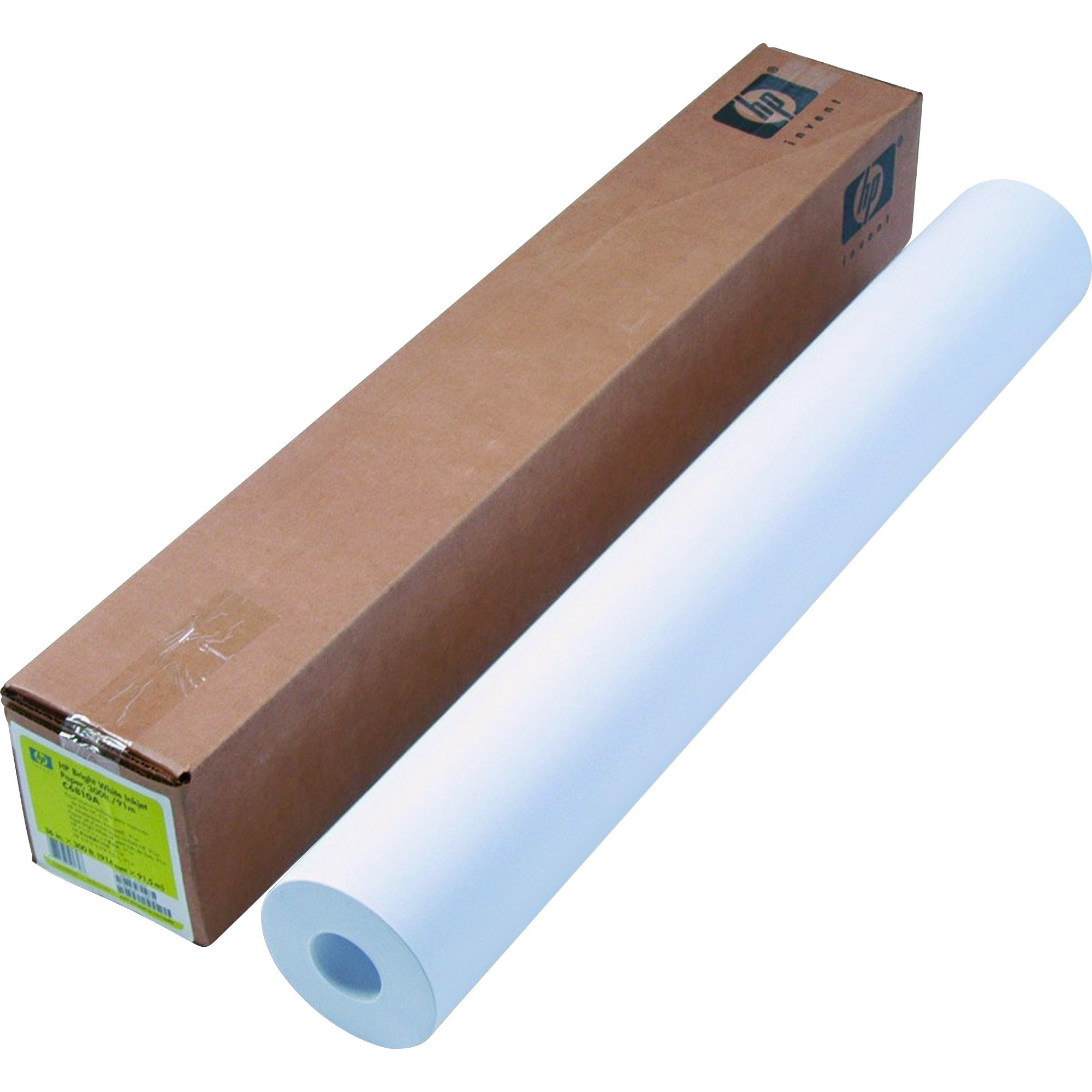 HP, HEWC6810A, Bright White Inkjet Bond Paper, 1 Roll, White