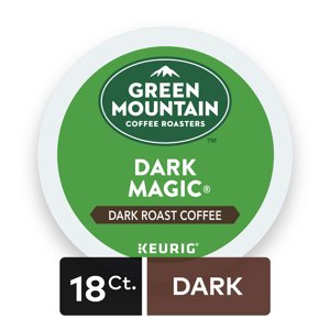 Green Mountain Coffee Roasters Dark Magic Keurig Single-Serve K-Cup pods, Dark Roast Coffee, 18 Count