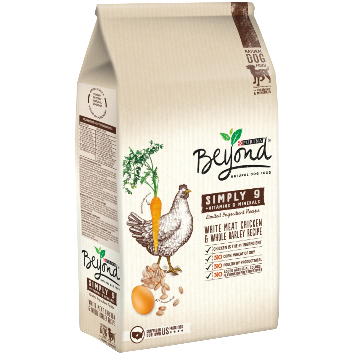 Purina Beyond Simply 9 White Meat Chicken & Whole Barley Recipe Dog Food 15.5 lb. Bag
